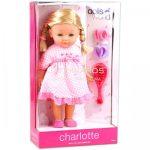 Charlotte fésülhető puha baba kiegészítőkkel - 36 cm