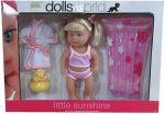 Little Sunshine nyaraló baba 25cm strandkiegészítőkkel