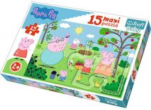 Peppa malac a kertben MAXI puzzle 15 darabos