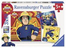 Puzzle 3x49 db - Sam a tűzoltó