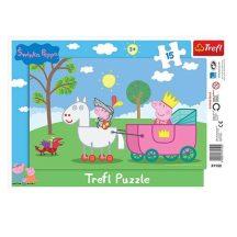 Peppa-malac-Peppa-lovag-15-db-os-keretes-puzzle