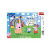 Keretes lap puzzle Peppa Pig a vidámparkban