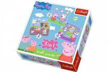 Peppa pig puzzle 3 az egyben