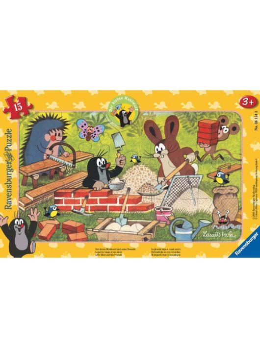 Kisvakond építkezik 15 darabos puzzle