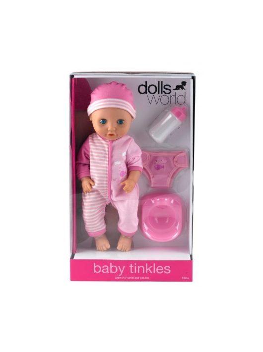 Baby Tinkles baba itatható és pisilő funkcióval 38 cm két színben