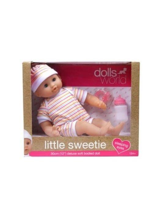 Little Sweetie 30cm-es alvós szemű baba