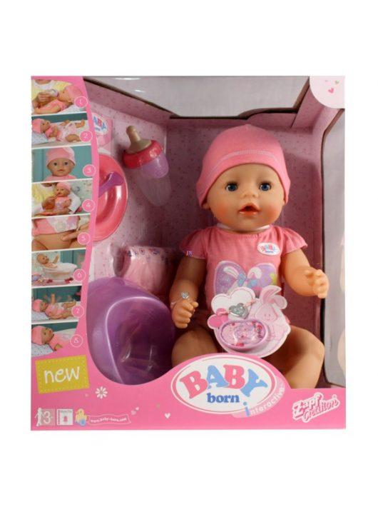 Baby Born interaktív lány baba - 43 cm