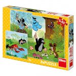 Kisvakond és barátai 3 x 55 darabos puzzle