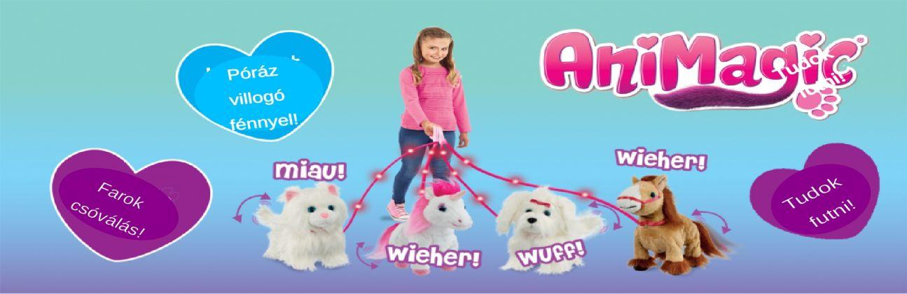 Animagic interaktív plüss játék állatok